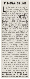 Article LA TRIBUNE DE MARAKECH 2 10 2015